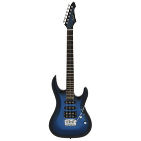 Aria Pro II MAC-STD Solid Body Double Cutaway Electric Guitar, Metallic Blue Shade