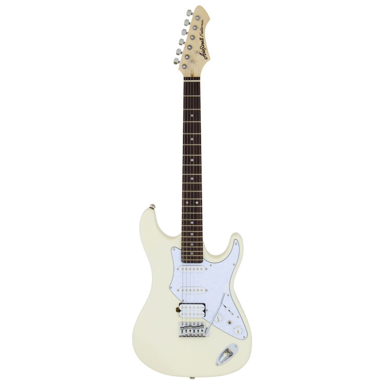 Aria Pro II 714-STD Solid Body Double Cutaway Electric Guitar, Vintage White
