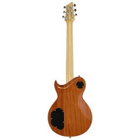 Aria Pro II PE-480 Quilted Maple Top Electric Guitar, Brown Sunburst