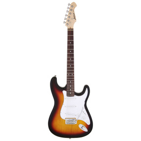 Aria Pro II STG-003 Solid Body Double Cutaway Electric Guitar, 3 Tone Sunburst