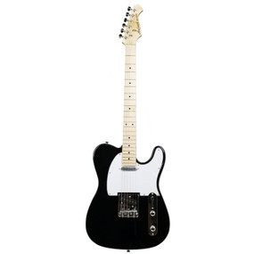 Aria Pro II 615-FRONTIER Solid Body Electric Guitar, Black