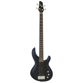 Aria Pro II IGB-STD Carved Top 4-String Electric Bass Guitar, Metallic Black
