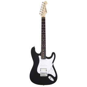 Aria Pro II STG-004 Solid Body Double Cutaway Electric Guitar, Black