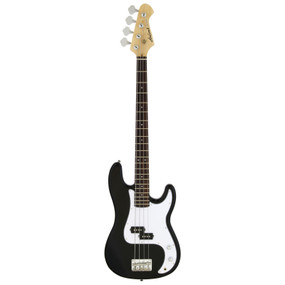 Aria Pro II STB-PB 4-String Precision Style Electric Bass Guitar, Black