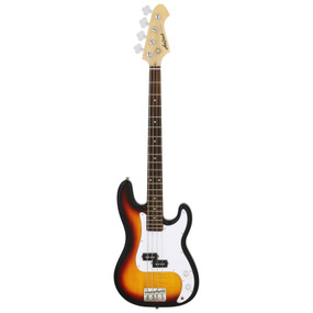 Aria Pro II STB-PB 4-String Precision Style Electric Bass Guitar, 3 Tone Sunburst
