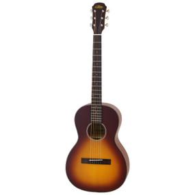 Aria 131 Vintage 100 Series Parlor Acoustic Guitar, Matte Tobacco Burst