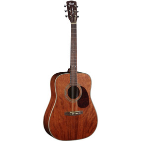 Cort Earth Series Earth70MH Solid Mahogany Top Dreadnought Acoustic Guitar, Open Pore