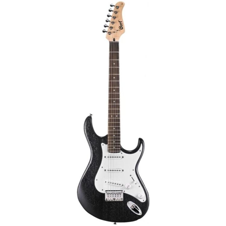 Cort G Series G100OPB Double Cutaway Electric Guitar, Open Pore Black