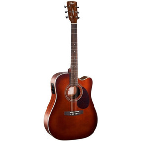 Cort MR500E Dreadnought Cutaway Acoustic Electric Guitar, Brown Burst