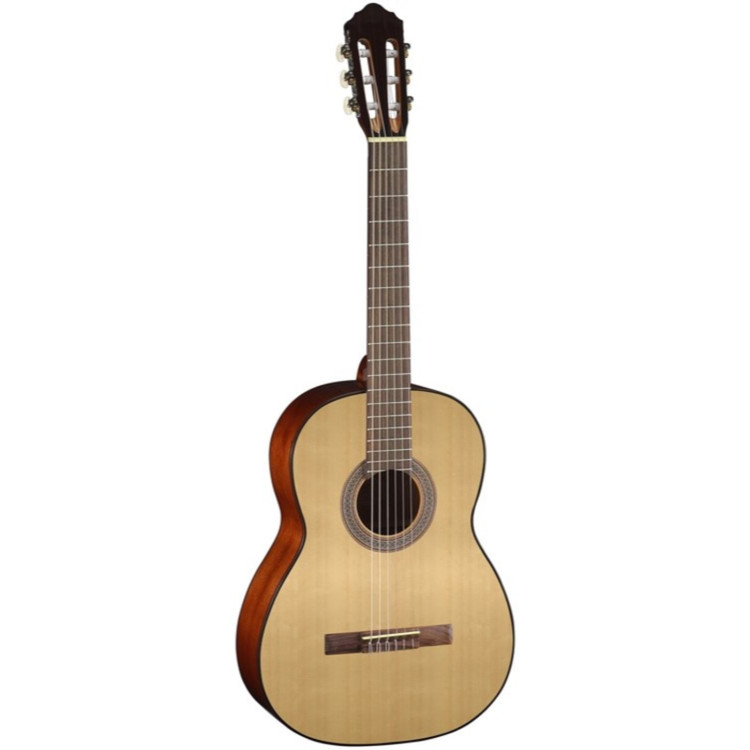 Cort AC100 Spruce Top Nylon String Classical Acoustic Guitar, Open Pore