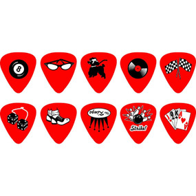 D'Andrea RPRKH Assorted Rockabilly Guitar Picks, Heavy, 12-Pack