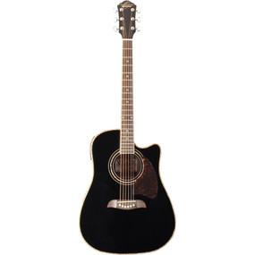 Oscar Schmidt OG2CEB Dreadnought Cutaway Acoustic Electric Guitar, Black