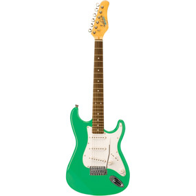 Oscar Schmidt OS-30 Solid Body 3/4 Size Electric Guitar, Surf Green
