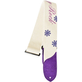 Daisy Rock DRS06 Purple Logo Cotton Guitar Strap