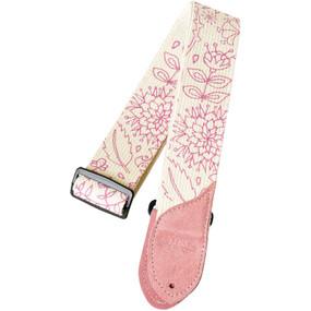 Daisy Rock DRS07 Pink Floral Cotton Guitar Strap