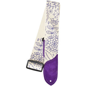 Daisy Rock DRS08 Purple Floral Cotton Guitar Strap