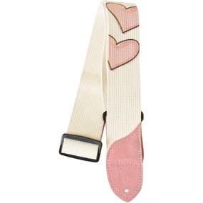 Daisy Rock DRS09 Pink Hearts Cotton Guitar Strap
