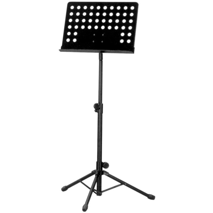 Guardian SM-051 Heavy Duty Deluxe Music Stand with Punched Holes, Black