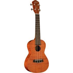 Oscar Schmidt OU300F Flame Mahogany Concert Size Acoustic Ukulele, Natural