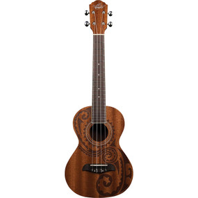 Oscar Schmidt OU2TETAT Tattoo Mahogany Acoustic Electric Tenor Ukulele, Natural