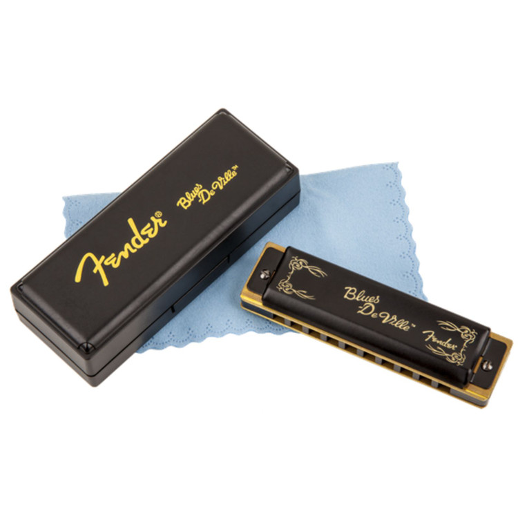 Fender Blues DeVille 10-Hole Diatonic Harmonica with Case, Key of F (099-0702-005)