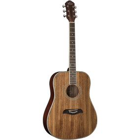 Oscar Schmidt OG2 Koa Top Dreadnought Acoustic Guitar, Natural (OG2KOA)