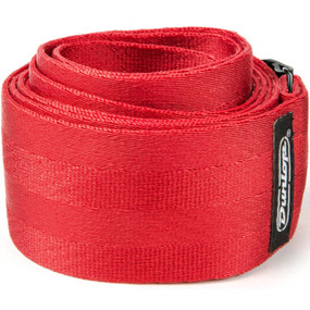 "Dunlop 2"" Deluxe Seatbelt Guitar Strap, Red (DST70-01RD)"