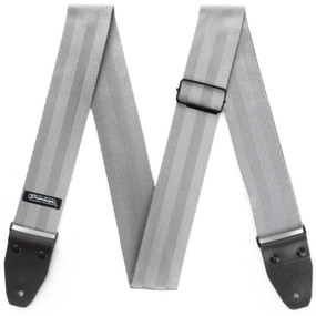 "Dunlop 2"" Deluxe Seatbelt Guitar Strap, Grey (DST70-01GY)"