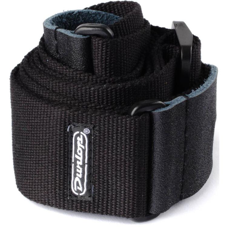 Dunlop D21-01BK Cotton Guitar Strap, Black (D21-01BK)