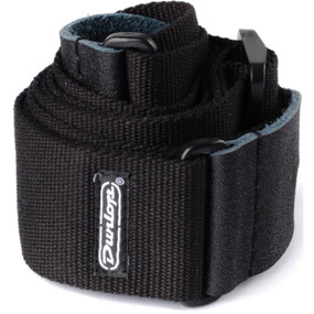Dunlop D21-01BK Cotton Guitar Strap, Black (D21-01BK)