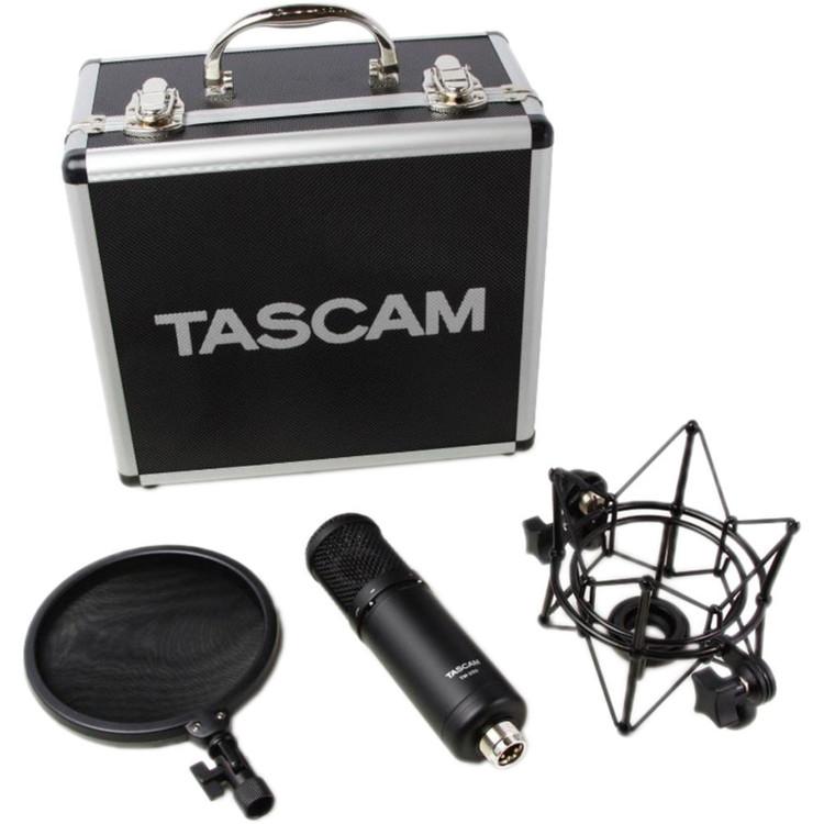 Tascam TM-280 Studio Condenser Microphone with Flight Case, Shockmount, and Pop Filter