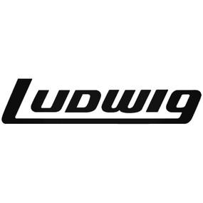 "Ludwig P0414B Large 13"" Block Logo Bass Drum Vinyl Decal, Black on Clear"