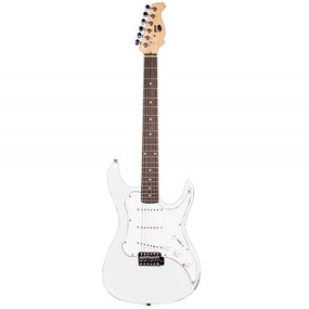 AXL AS-750-WH Headliner SRO Double Cutaway Electric Guitar, White (AS-750-WH)