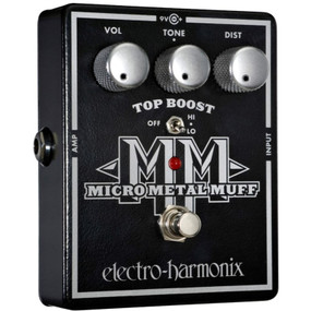 Electro-Harmonix Micro Metal Muff Distortion with Top Boost Effects Pedal (MICROMETALMUFF)