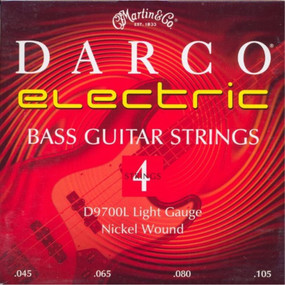 Martin D9700L Darco Long Scale Nickel Wound 4-String Electric Bass Guitar Strings, Light 45-10.5 (D9700L)