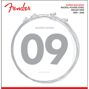 Fender 3250LR Super Bullets Nickel-Plated Steel Electric Guitar Strings, Light Regular 9-46 (073-3250-404)