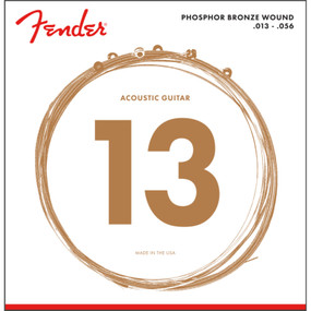 Fender 60M Phosphor Bronze Ball End Acoustic Guitar Strings, Medium 13-56 (073-0060-408)
