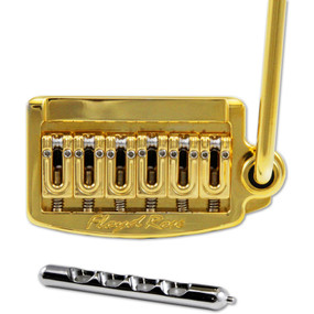 Floyd Rose RT300W Rail Tail Tremolo System, Wide, Gold (RT300W)