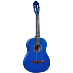 Lucida LG-400-3/4 Student Classical Nylon String Acoustic Guitar, Blue (LG-400-3/4BL)