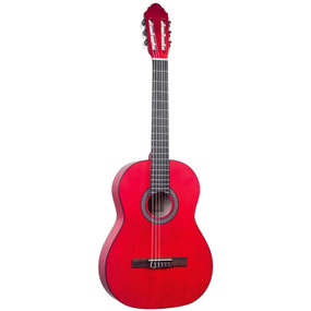 Lucida LG-400-3/4 Student Classical Nylon String Acoustic Guitar, Red (LG-400-3/4RD)