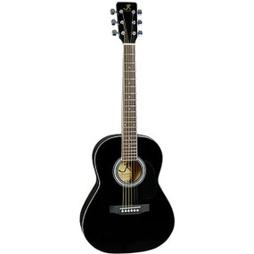J Reynolds JR14BK 36-Inch Acoustic Guitar, 3/4 Size, Black