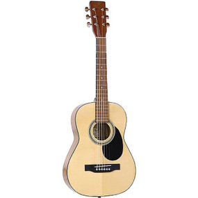 "J Reynolds JR12S 34"" Student 1/2 Size Steel String Acoustic Guitar with Gig Bag, Natural"