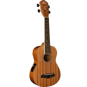 Oscar Schmidt OU2E Concert Acoustic Electric Ukulele with Active Pickup System