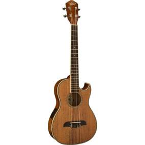 Oscar Schmidt OU55CE Hawaiian Koa Cutaway Acoustic Electric Baritone Ukulele