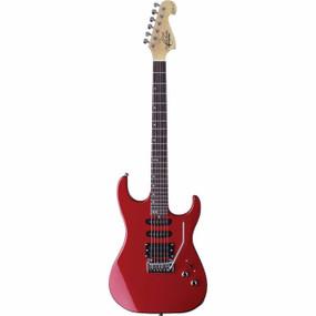Oscar Schmidt OX10R Electric Guitar, Red (OX10R)