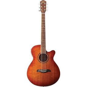 Oscar Schmidt OG2FYS Dreadnought Acoustic Guitar, Flame Yellow Sunburst (OG2FYS)