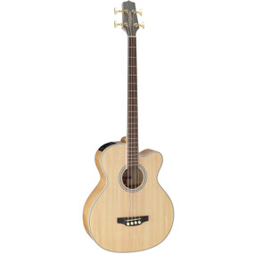 Takamine GB72CE-NAT Solid Top 4-String Acoustic Electric Bass Guitar, Natural