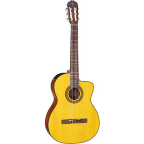 Takamine GC3CE-NAT Solid Spruce Top Nylon String Classical Acoustic Electric Guitar, Natural
