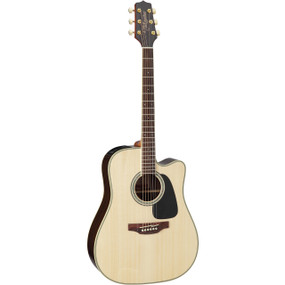 Takamine GD51CE-NAT Solid Top Dreadnought Cutaway Acoustic Electric Guitar, Natural
