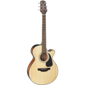 Takamine GF30CE-NAT Solid Top FXC Cutaway Body Acoustic Electric Guitar, Natural